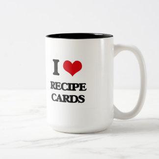I Love Recipe Cards Two-Tone Mug