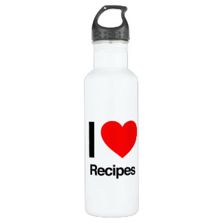 i love recipes 24oz water bottle
