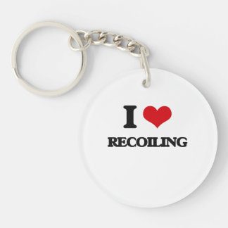 I Love Recoiling Single-Sided Round Acrylic Keychain
