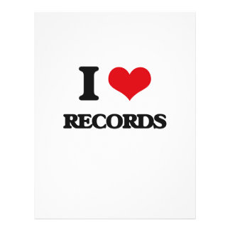 I Love Records Personalized Flyer
