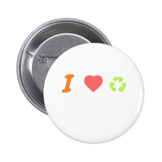 I love recycling 2 inch round button