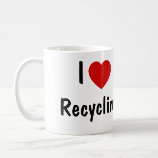 I Love Recycling Coffee Mug