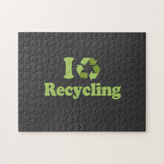 I Love recycling T-shirt / Earth Day T-shirt Puzzles