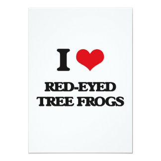 I love Red-Eyed Tree Frogs Custom Announcements