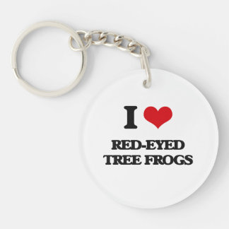 I love Red-Eyed Tree Frogs Keychains