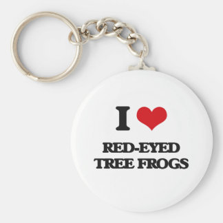 I love Red-Eyed Tree Frogs Key Chain