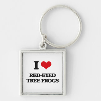 I love Red-Eyed Tree Frogs Keychain