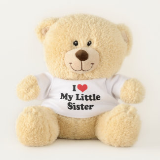 I Love (Red Heart) My Little Sister Teddy Bear