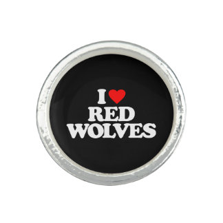I LOVE RED WOLVES PHOTO RINGS