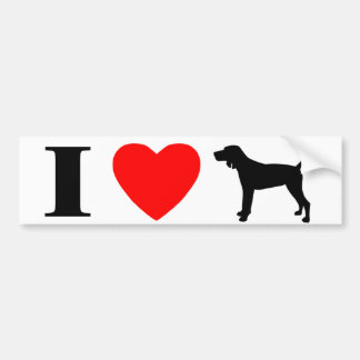 I Love Redbone Coonhounds Bumper Sticker