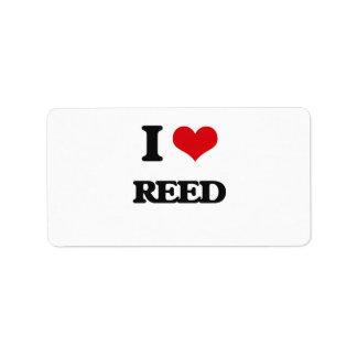 I Love Reed Address Label