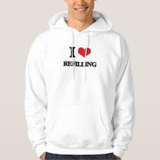 I Love Refilling Hooded Sweatshirt