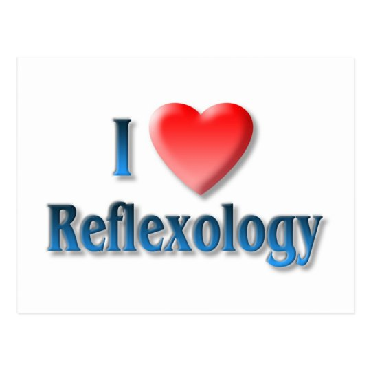 I Love Reflexology Postcard