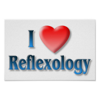 I Love Reflexology Poster