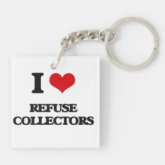 I love Refuse Collectors Key Chain