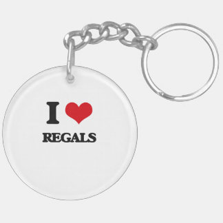 I Love Regals Double-Sided Round Acrylic Keychain
