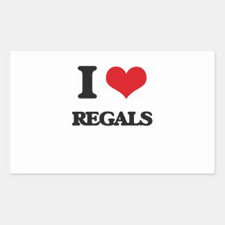 I Love Regals Rectangular Sticker