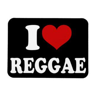I Love Reggae Rectangular Photo Magnet