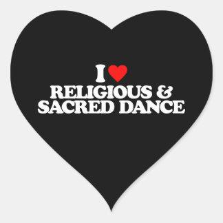 I LOVE RELIGIOUS & SACRED DANCE HEART STICKER