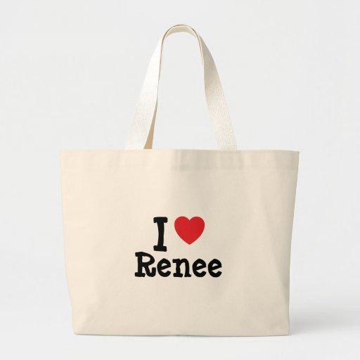 I love renee heart t shirt jumbo tote bag zazzle for Jumbo t shirt bags
