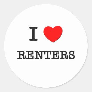 I Love Renters Round Sticker