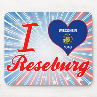 I Love Reseburg, Wisconsin Mouse Pads
