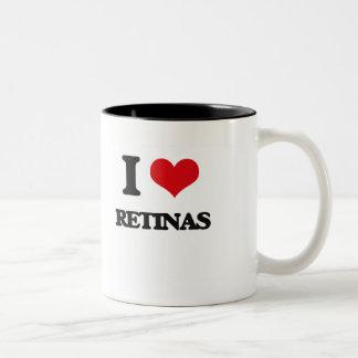 I Love Retinas Two-Tone Coffee Mug