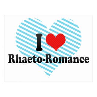 I Love Rhaeto-Romance Postcard