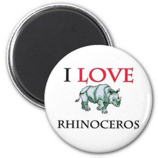 I Love Rhinoceros Magnet