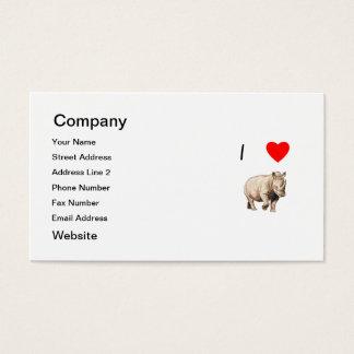 I Love Rhinos (2) Business Card