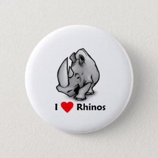 I love Rhinos 2 Inch Round Button