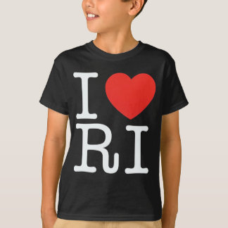 I LOVE RHODE ISLAND BLACK T-Shirt