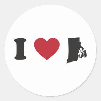 I Love Rhode Island Classic Round Sticker