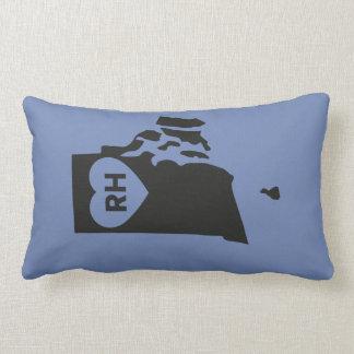 I Love Rhode Island State Lumbar Pillow
