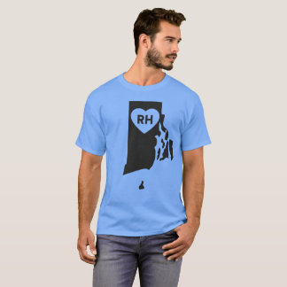 I Love Rhode Island State Men's Basic Dark T-Shirt