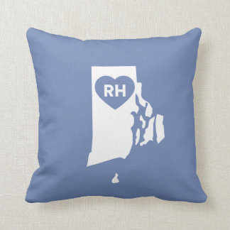 I Love Rhode Island State Throw Pillow