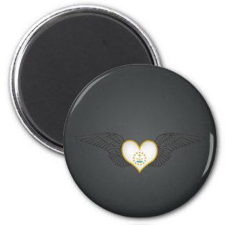 I Love Rhode Island -wings Magnet