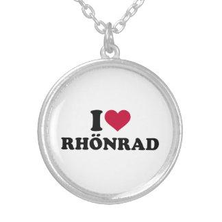 I love Rhönrad Silver Plated Necklace