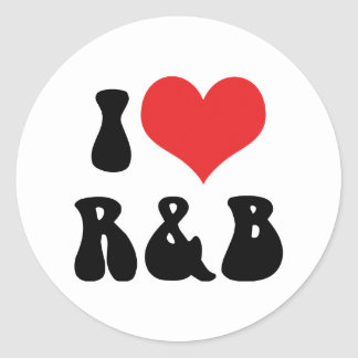 I Love Rhythm & Blues Round Sticker