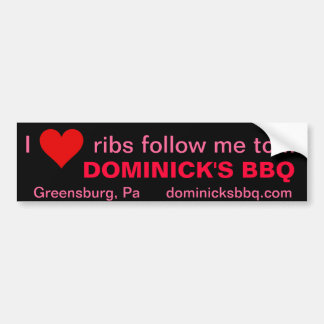 I love ribs bumper stickers