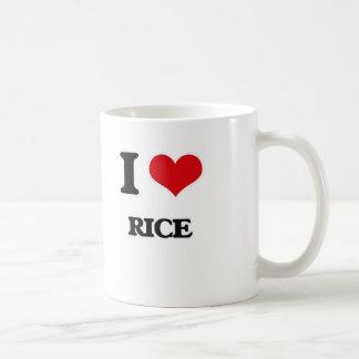 I Love Rice Coffee Mug