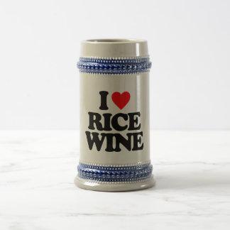 I LOVE RICE WINE 18 OZ BEER STEIN