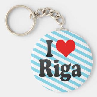 I Love Riga, Latvia Keychain