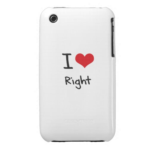 I love Right iPhone 3 Cases
