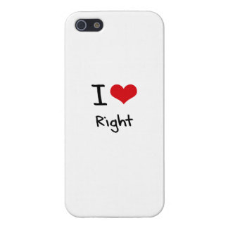 I love Right iPhone 5 Covers