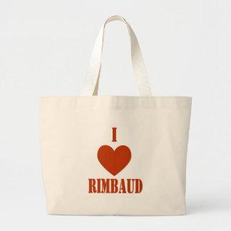 I love Rimbaud Jumbo Tote Bag