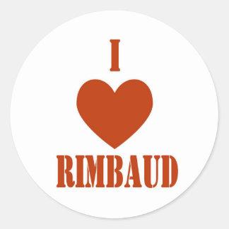 I love Rimbaud Round Stickers