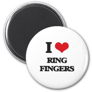 I love Ring Fingers 2 Inch Round Magnet
