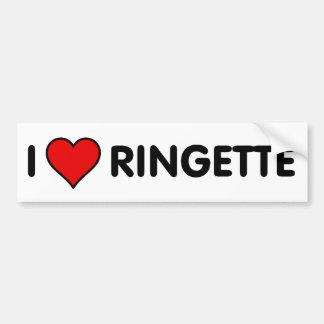 I Love Ringette Bumper Sticker