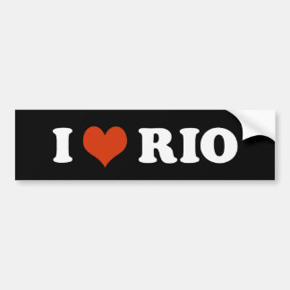 I Love Rio Bumper Sticker